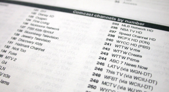 Comcast channel list: version 2