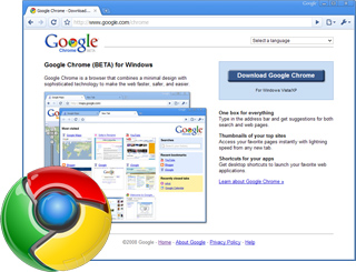 Google Chrome screenshot and logo