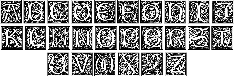 Initial alphabet