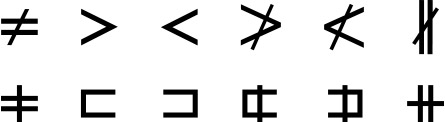 Alternate designs for symbols