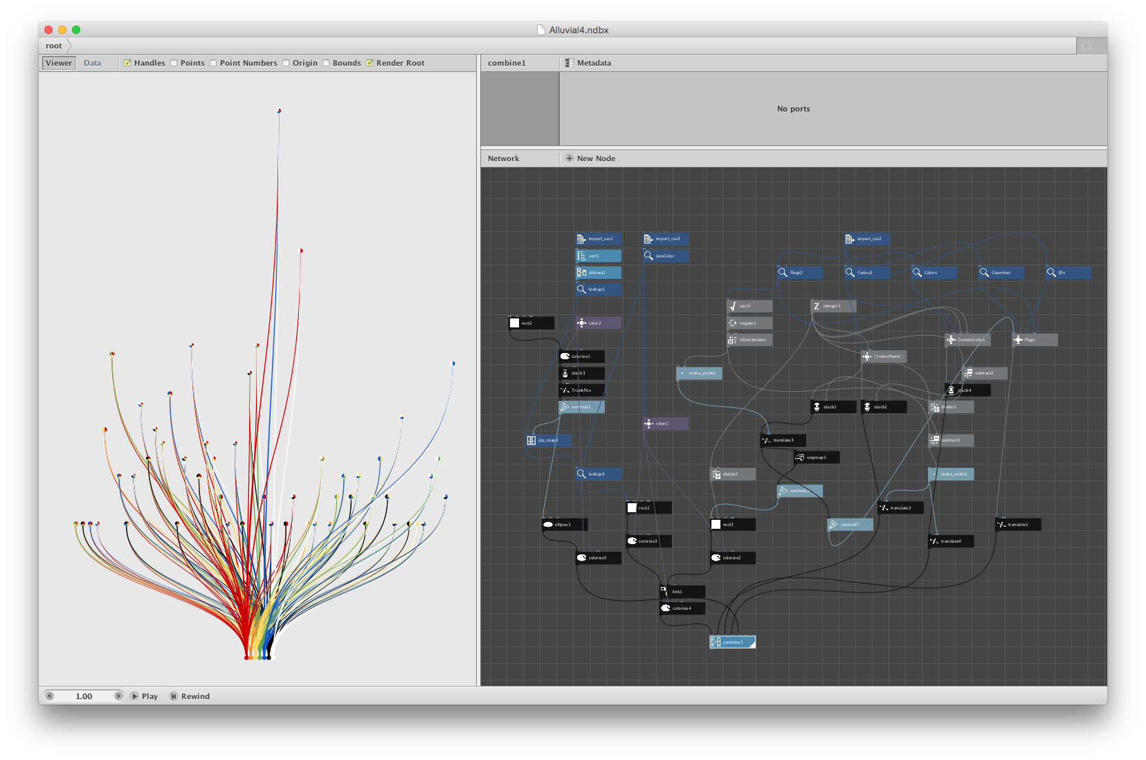 Screenshot of the final alluvial diagram in NodeBox