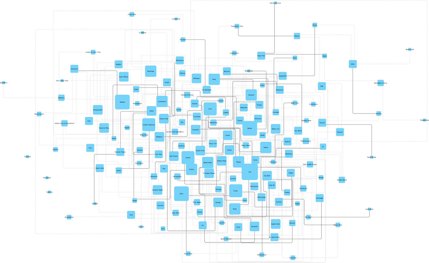 More polished example from Cytoscape