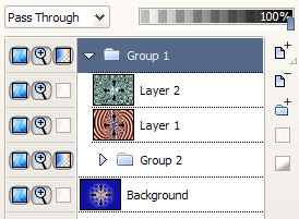Screenshot of layer groups
