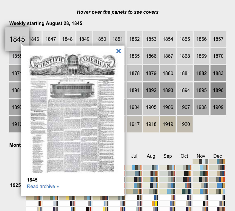 Screenshot of online interactive version showing first issue from 1845