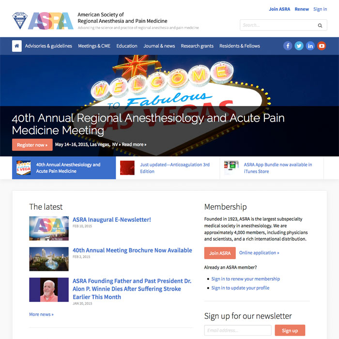 American Society of Regional Anesthesia and Pain Medicine - C82